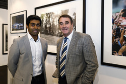 Nigel Mansell and Karun Chandhok on the LAT Images stand