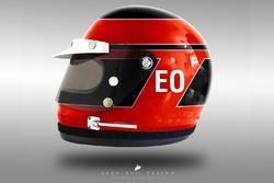 Esteban Ocon 1970's helmet concept