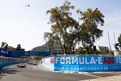 Jean-Eric Vergne, Techeetah, Nelson Piquet Jr., Jaguar Racing, Andre Lotterer, Techeetah, alla partenza della gara