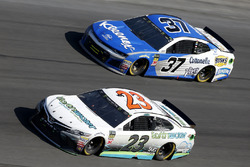 Gray Gaulding, BK Racing, Toyota Camry, Chris Buescher, JTG Daugherty Racing Chevrolet Camaro