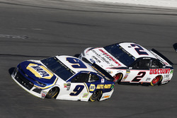 Chase Elliott, Hendrick Motorsports Chevrolet, Camaro Brad Keselowski, Team Penske Ford Fusion