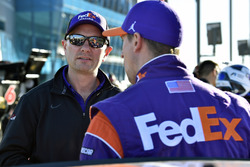 Michael Wheeler and Denny Hamlin, Joe Gibbs Racing, Toyota Camry FedEx Office
