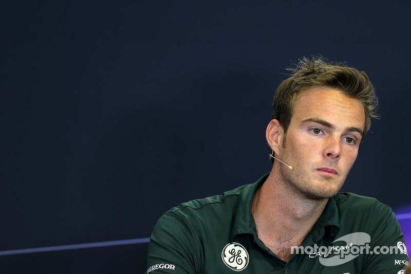 Giedo van der Garde, Caterham F1 Team at the press conference.