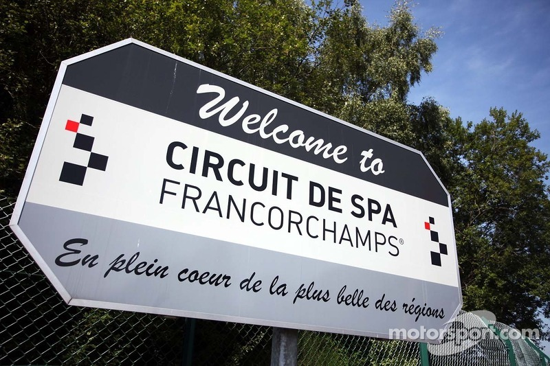 Welkomstbord Spa Francorchamps