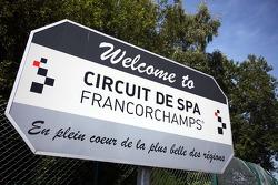 Welkomstbord Spa Francorchamps