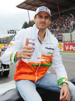 Adrian Sutil, Sahara Force India F1, no desfile de pilotos