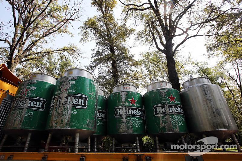 Heineken beer kegs