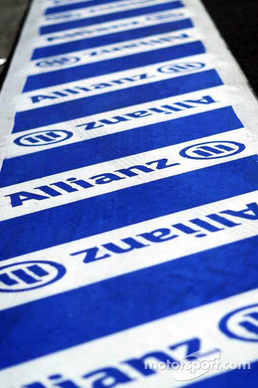Allianz branding in the pits