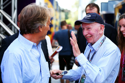 Luca di Montezemolo, Ferrari President with John Surtees
