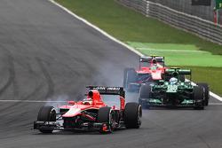 Jules Bianchi, Marussia F1 Team MR02 locks up under braking