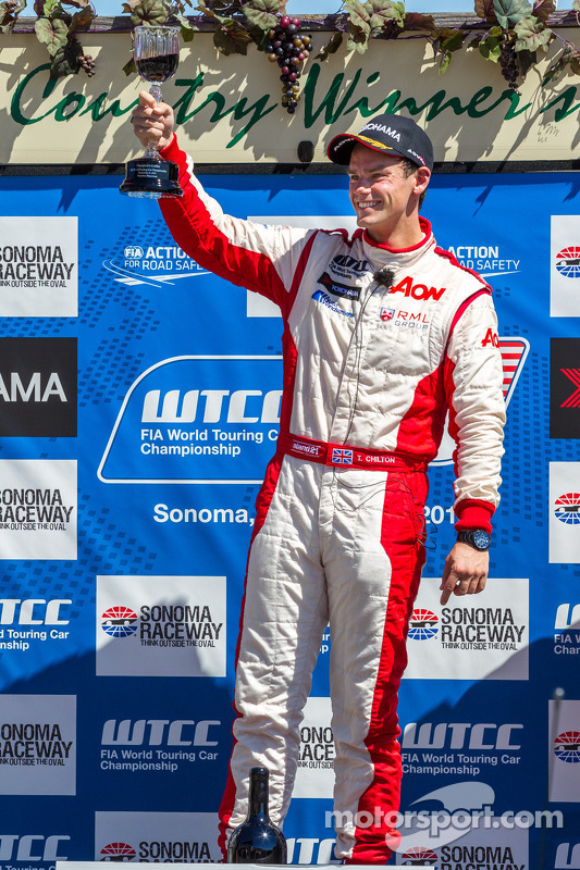 Tom Chilton after race 1 win