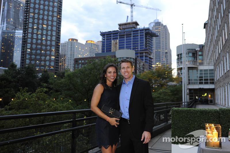 Carl Edwards met vrouw Katie