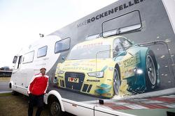 The motorhome of Mike Rockenfeller, Audi Sport Team Phoenix, Audi RS 5 DTM