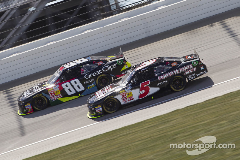 Dale Earnhardt Jr. en Brad Sweet