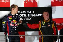 Sebastian Vettel, Red Bull Racing and Kimi Raikkonen, Lotus F1 Team