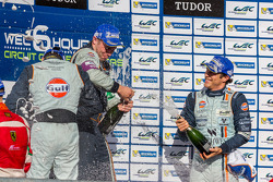 Aston Martin drivers celebrate LMGTE Pro win