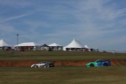 #48 Paul Miller Racing Porsche 911 GT3 RSR: Bryce Miller, Marco Holzer #17 Team Falken Tire, Porsche 911 GT3 RSR: Wolf Henzler, Bryan Sellers