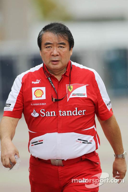 Hirohide Hamashima, Engenheiro de pneus da Ferrari