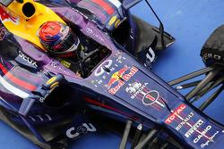 Race winner Sebastian Vettel, Red Bull Racing RB9 in parc ferme