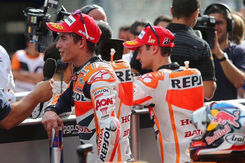 Dani Pedrosa en Marc Marquez