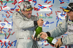 GTC podium: champagne for Patrick Dempsey