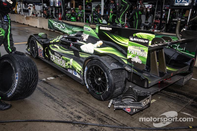 Schade aan de #02 Extreme Speed Motorsports HPD ARX-03b HPD: Ed Brown, Johannes van Overbeek, Rob Bell