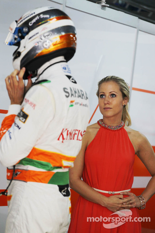 Jennifer Becks, com o namorado Adrian Sutil, Sahara Force India F1