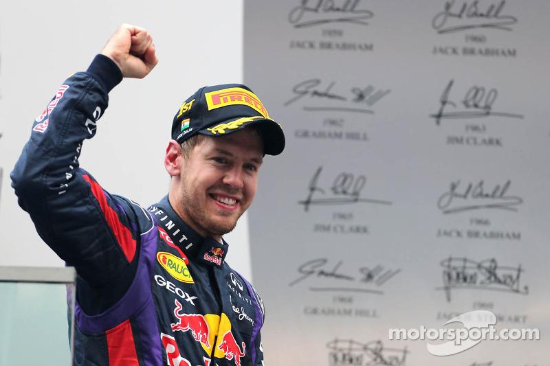 Переможець гонки та чемпіон світу Себастьян Феттель, Red Bull Racing RB9