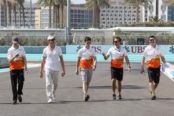 Adrian Sutil, Sahara Force India F1, e James Calado