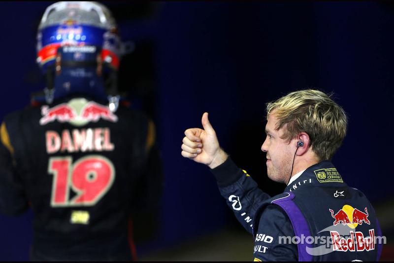 Sebastian Vettel, Red Bull Racing and Daniel Ricciardo, Scuderia Toro Rosso