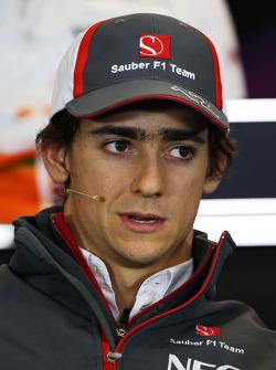 Esteban Gutierrez, Sauber bij de FIA-persconferentie