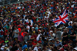 Bandeira britânica na arquibancada