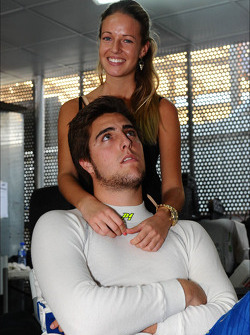 Pepe Oriola, Chevrolet 1.6T, Tuenti Racing Team with his girlfriend