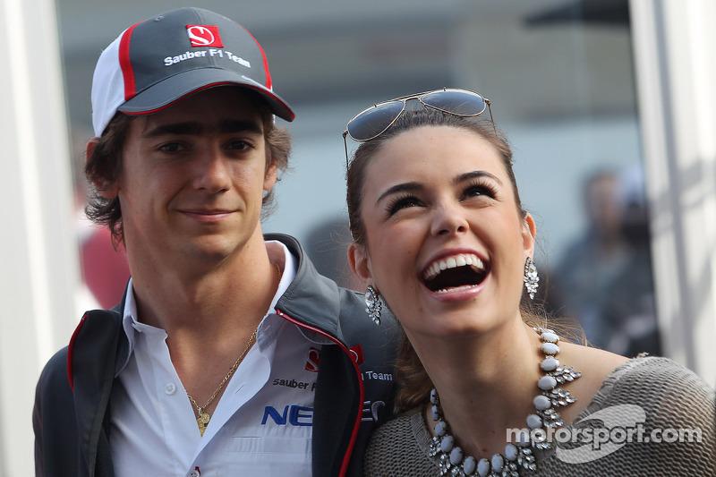 Esteban Gutiérrez, Sauber con su novia