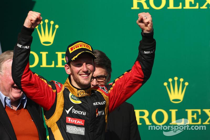 2e plaats Romain Grosjean, Lotus F1 Team