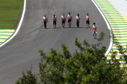 Paul di Resta, Force India Formula One Team and James Calado, Sahara Force India Third Driver