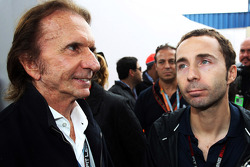 (L to R): Dr Helmut Marko, Red Bull Motorsport Consultant with Nicolas Todt, Driver Manager