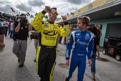 Pole winner Sam Hornish Jr. with runner-up Blake Koch