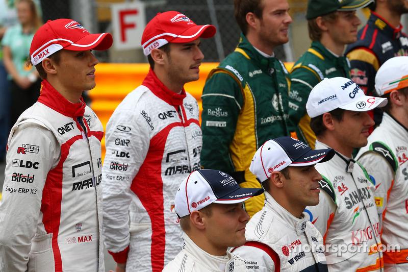 Max Chilton y su compañero de equipo Jules Bianchi