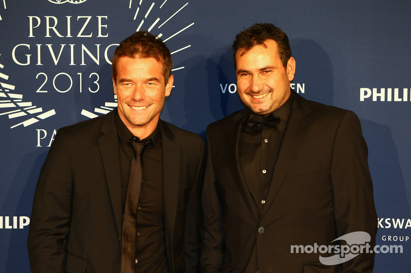 Sébastien Loeb, with his co-driver Daniel Elena