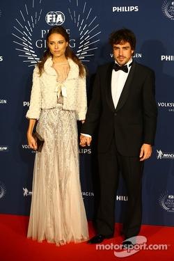 Fernando Alonso, Ferrari with his girlfriend Dasha Kapustina