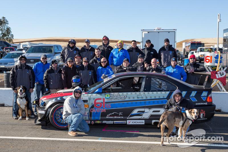 Klasse-winnaars #61 Stammer-Inc / Bavarian Performance BMW M3-E46: Matt Crandall, Gregory Liefooghe, Eddie Nakato, Jeffrey Stammer, Derek Welch