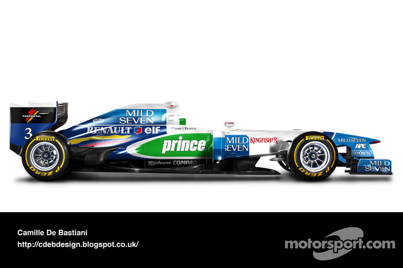Formel-1-Auto im Retrodesign: Benetton 1996