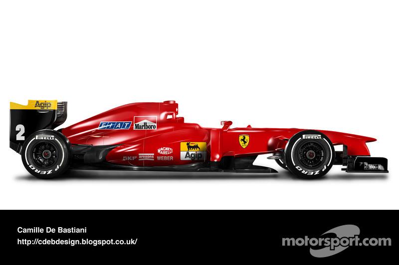 Formel-1-Auto im Retrodesign: Ferrari 1990
