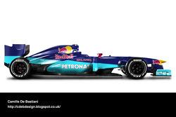 Retro F1 car - Sauber 2000