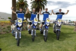 Yamaha riders Olivier Pain, Michael Metge, Cyril Despres, Frans Verhoeven