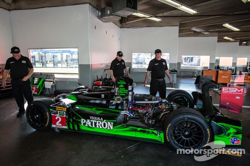#2 Extreme Speed Motorsports HPD ARX-03b Honda no box, depois de acidente