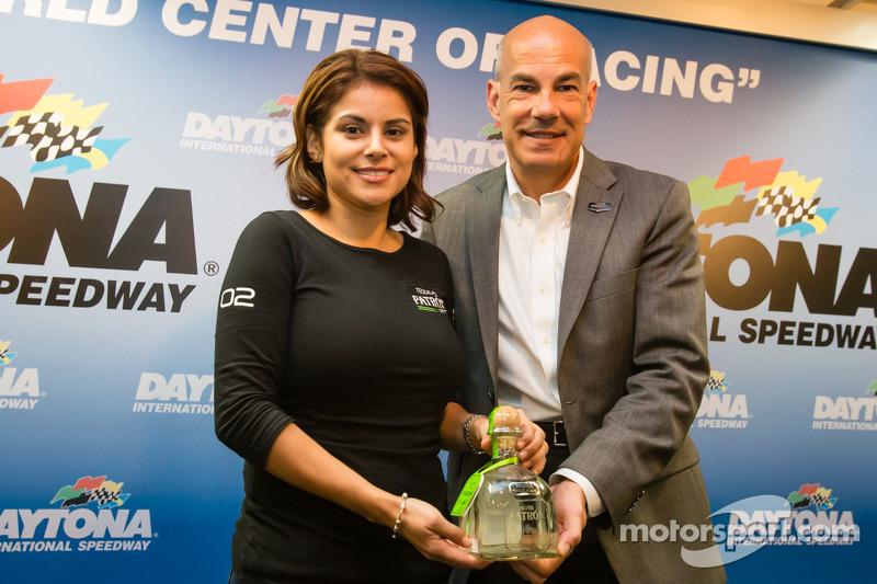 Tequila Patron conferenza stampa: Stephanie Rivera da Tequila Patron e Scott Atherton, IMSA Presidente