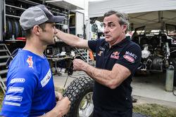 Cyril Despres and Carlos Sainz