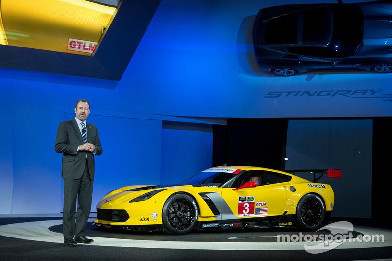 General Motors Başkanı Dan Ammann Chevrolet Corvette C7.R lansmanında